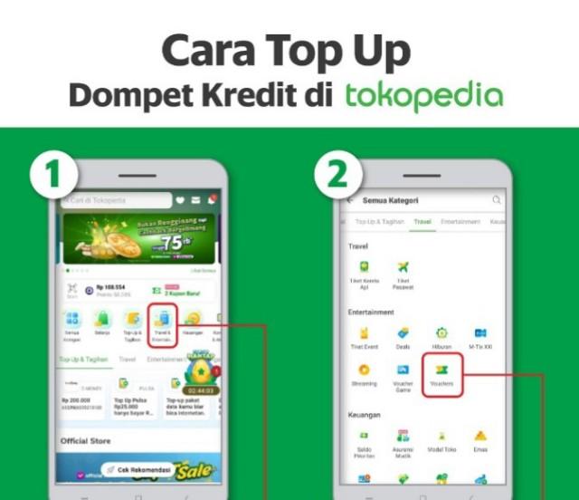 Cara Top Up Dompet Kredit Grab Di Tokopedia