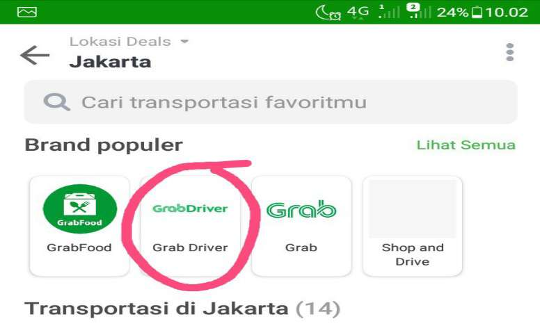 top up dompet grab driver