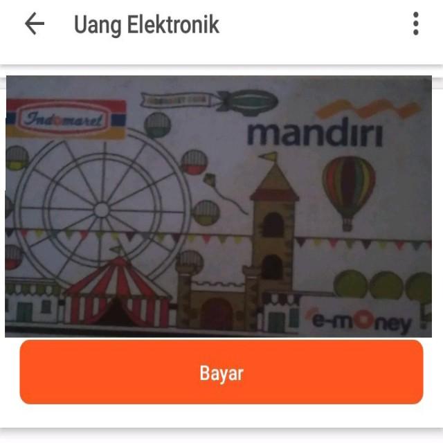 Cara Top up Uang Elektronik E-Money
