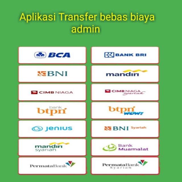 Aplikasi Transfer Bank Tanpa Biaya