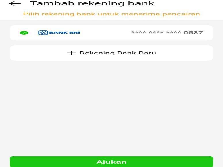 Merubah Nomor Rekening Kredit Pintar