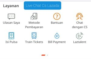 Cara Chat Dengan CS Lazada