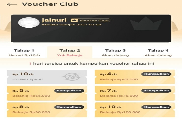 Berlangganan Voucher Club Lazada