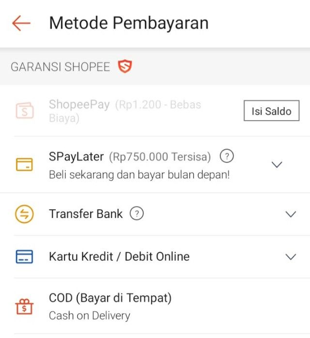 Belanja Di Shopee Pakai ShopeePay